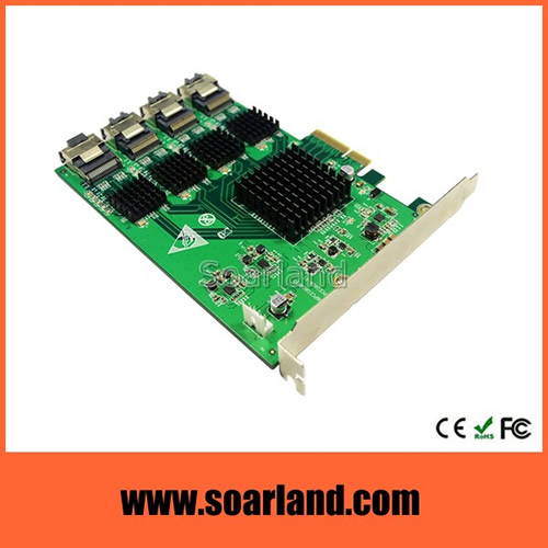 16-Port SATA 3 PCIe Card