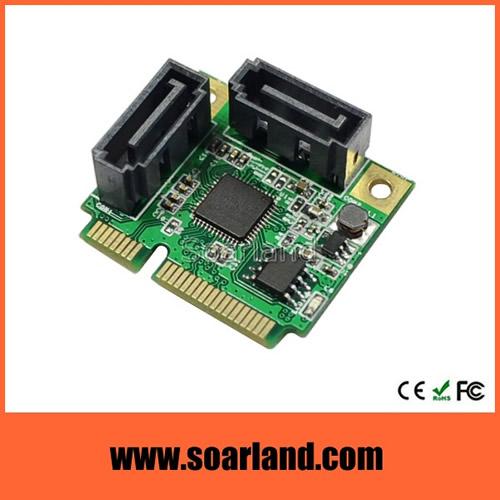 Dual SATA 3 to mini PCIe Adapter