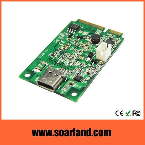 mini PCIe to USB 3.1 type C