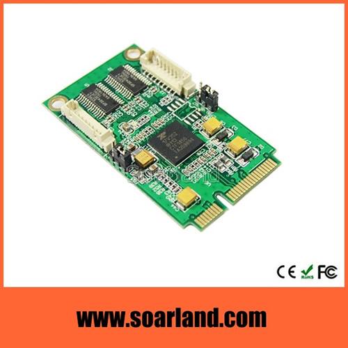 2-Port RS232 mini PCIe Serial Card