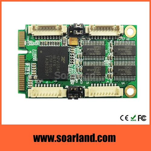 4-Port RS232 mini PCIe Serial Card