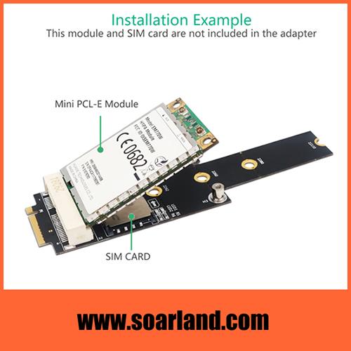 mini PCIe to M.2 Key B+M Adapter