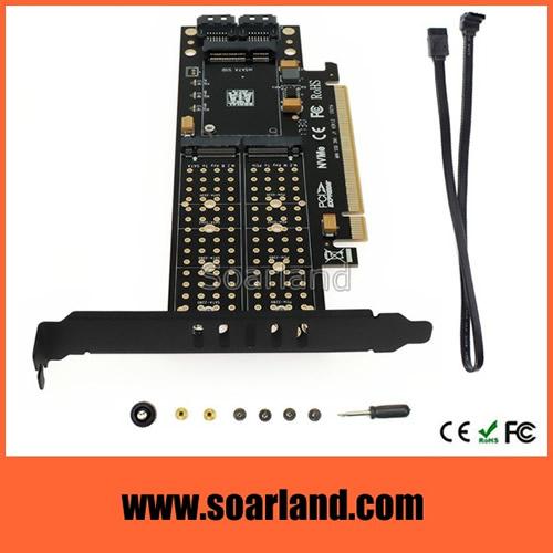 PCIe M.2 mSATA ComBo Card