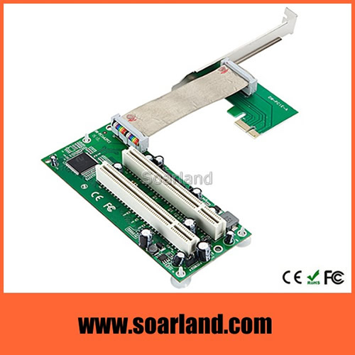 PCIe to Dual PCI Riser Card Adapter