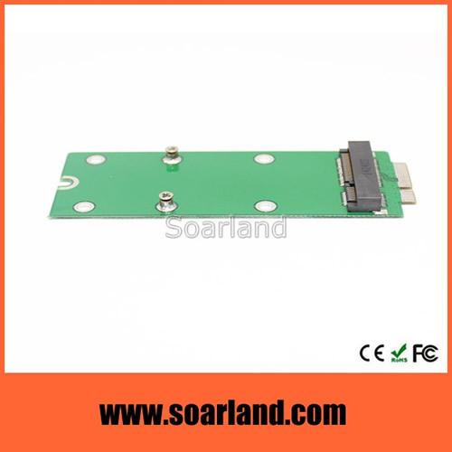 mSATA SSD to 17+7 Macbook Retina Adapter
