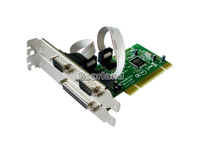 PCI to 2-Port Serial 1-Port Parallel Card