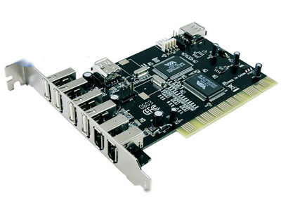 PCI to 5-Port USB 3-Port 1394a Card