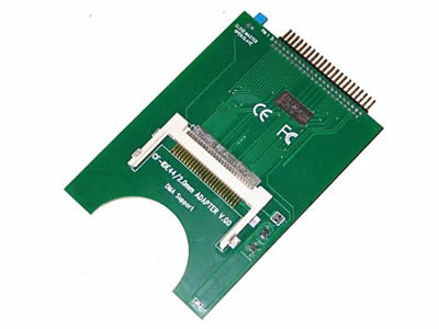 Big PCB Laptop 44-Pin Male IDE To CF Card Adapter