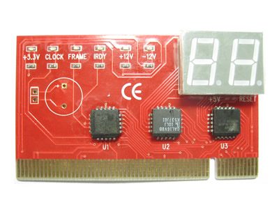 2-Digit PCI Motherboard Diagnostic Debug Card