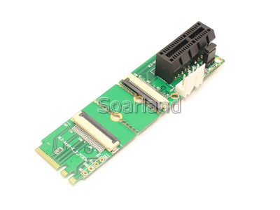 PCIe x1 to M.2 Key A+E Flexible Adapter