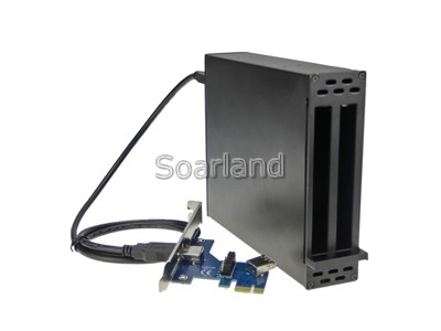 Dual PCIe to PCIe Adapter Enclosure