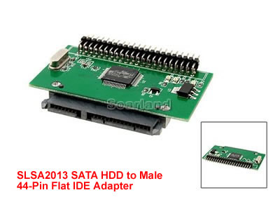 "sata hdd to male 44 pin 2.5"" flat adapter"